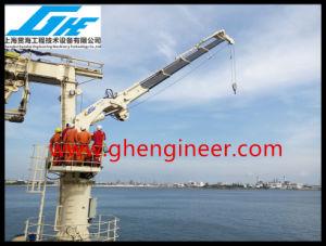 Folding Boom Marine Deck Crane 7t pictures & photos