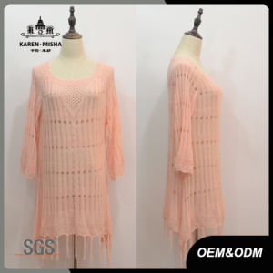 Women Custom Fringe Hem Dress pictures & photos