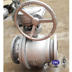 DIN Floating Carbon Steel /Wcb Flange Ball Valve pictures & photos