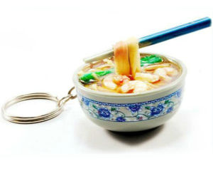 Eco-Friendly OEM Design Plastic Food Keychain pictures & photos