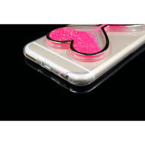 Factory Price Colorful Quick Sand Heart Cell Phone Case for iPhone 5/6 pictures & photos