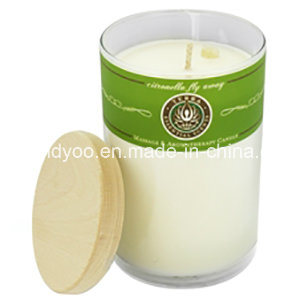 Scented Soy Glass Candle with Wooden Lid pictures & photos
