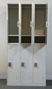 Steel Locker 6 Door Metal Cabinet Wardrobe Code Lock Locker