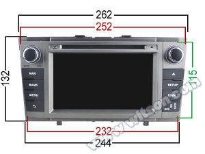 Witson Android 5.1 Car GPS for Toyota Avensis 2008-2013 (A5585) pictures & photos