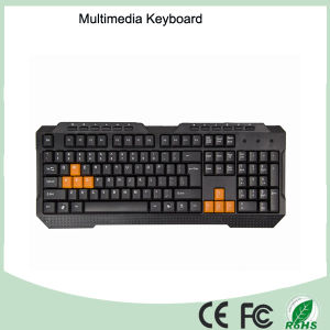 Grade a Quality Waterproof Multimedia Wired Keyboard pictures & photos