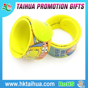 Hot Selling Heat Transfer Printing Silicone Slap Bracelet (TH-056) pictures & photos
