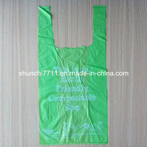 Earth Friendly Compostable T-Shirt Bag pictures & photos