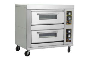 Double-Layer Four-Tray Bakery and Pizza Gas Oven pictures & photos