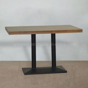 Industrial 4 Seater Cast Iron Base Wood Restaurant Table (SP-RT489) pictures & photos