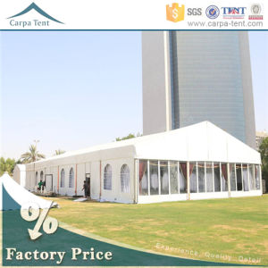 Hot Sale Air Conditioned Movable Display 15m*30m Fireproof Glass Wall Tents pictures & photos