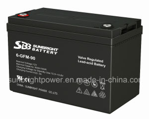 Maintenance Free 12V90ah Deep Cycle Solar Power Battery pictures & photos