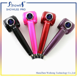 Showliss Shenzhen Display Medela De Cachos Showliss PRO LCD Auto Hair Curler Professional Black Hair Curling Irons pictures & photos