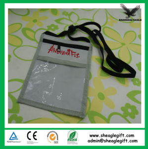Promotional Non-Woven Trade Show Badge Holder with Long Lanyard pictures & photos