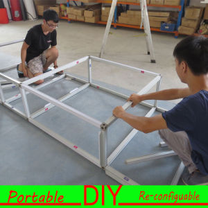 Hook & Loop Attached Aluminum Structure Portable Exhibition Fabric Display Equipment pictures & photos