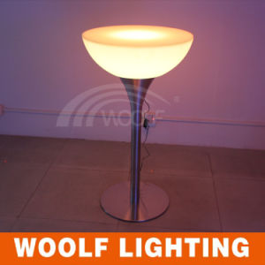 LED Light up Antique Round Coffee Table with Stools pictures & photos