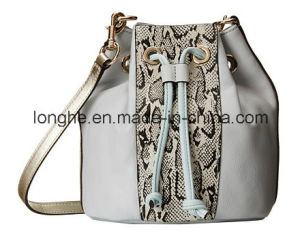 Casual Snake Print Bucket Bag (LY0276) pictures & photos