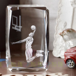 NBA 3D Crystal Glass Laser Cube for Basketball pictures & photos