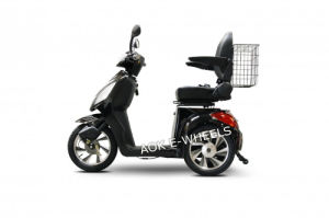 500W-800W Disabled 3 Wheel Mobility Scooter with Deluxed Seat and Basket pictures & photos
