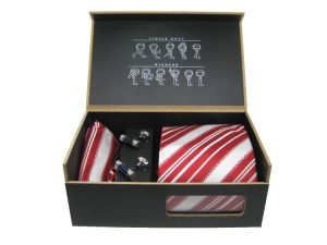 Top Quality Wooden Necktie Gift Box Tie Sets Hanky Cufflink Matching Box (NB-06) pictures & photos