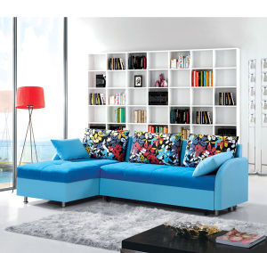 Living Room Furniture Corner Fabric Sofa Bed with Storage pictures & photos