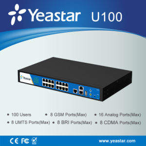 Yeastarm100 SIP Phone Extension Hybrid VoIP PBX System pictures & photos