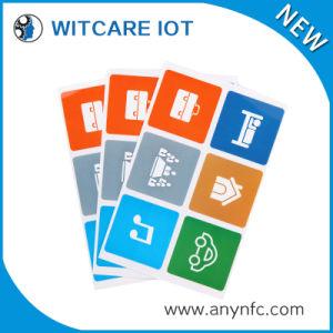 13.56MHz Rewritable RFID Sticker with Customized Logo