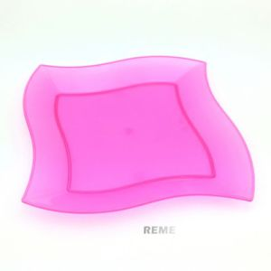 Tableware Plastic Plate Disposable Tray 23cm Square-Wave Plate pictures & photos