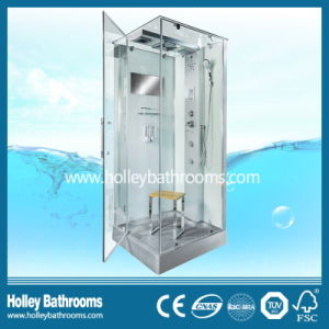 Clean Cut Multifunctional Shower Room with Computer Display and Mirror (SR113G) pictures & photos