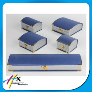 Elegant Design Blue Jewelry Box Set for Full Set Jewelry with Metal Lock pictures & photos