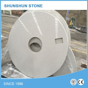 Artificial White Round Stone Quartz Counters for Kitchen pictures & photos