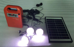 5W Portable Solar Energy Kit System Lighting, FM Radio, Music, USB Output, Charging Mobile pictures & photos