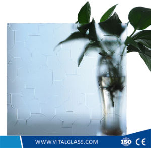 4-12mm Acid Etched Glass Figured/Pattern Glass with CE & ISO9001 pictures & photos