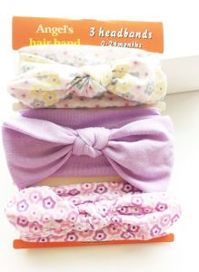2017 Wholesale Ribbon Bowknot Head Band Cotton Hairband Fashion Baby Hair Accessories pictures & photos