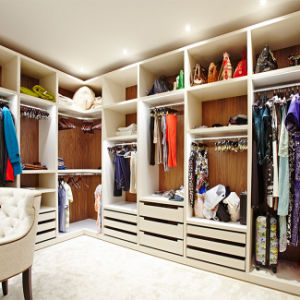MDF Wooden Walk in Closet Cabinets pictures & photos