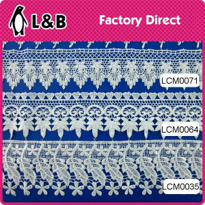 Wholesale Garment Border Lace Chemical Lace 100% Polyester Water Soluble Lace pictures & photos