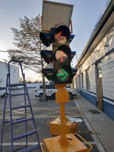 High Luminance Solar Red Flashing Traffic Warning Light pictures & photos