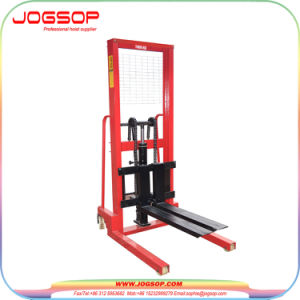 Hand Operated Manual Pallet Stacker 1.5t Transpalata Stacker pictures & photos