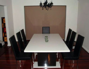 Modern Dining Table Chairs Polished White Used Restaurant Tables pictures & photos
