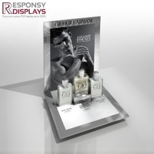 Attactive Design Acrylic Counter Cosmetic Perfume Display Stand with Logo pictures & photos