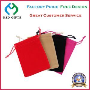 Drawstring Printed Custom Velvet Bag for Metal Lapel Pin Badge pictures & photos