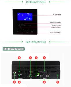 1kVA/800W-5kVA/24000W Inbuilt MPPT/PWM Controller Solar Hybrid Inverter pictures & photos