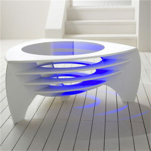 New Design Artificial Stone LED Light Coffee Table/Tea Table for Home Office Furniture pictures & photos