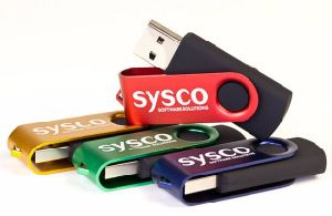 Promotional Metal Swivel USB Flash Drive with Customized Logo pictures & photos