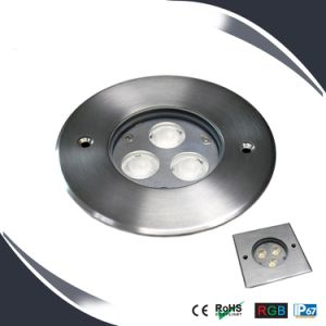 3X3w IP67 LED Underground Lighting, Deck Light, Outdoor Floor Mounted Fixtures pictures & photos