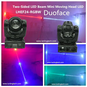 24W RGBW Duoface Moving-Head Spot LED Stage Lighting pictures & photos