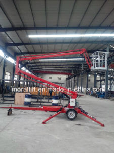 Telescopic Trailer Boom Lift for Aerial Working pictures & photos