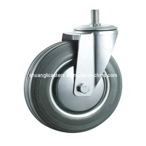 Gray Rubber Swivel Wheel Roller Bearing Screw Wheel Axle Caster (N1912)