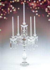 Gorgeous Wedding Table Decoration Crystal Glass Flower Candleholder
