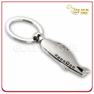 Airplane Design Die Casting Enamel Metal Key Chain pictures & photos