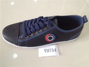 PU Men′s Canvas Casual Sports Shoes (YH-754)